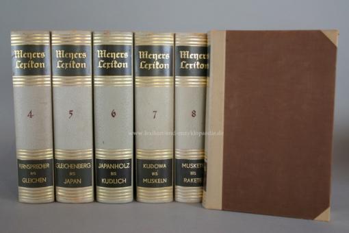 Meyers Lexikon 8. Auflage, 10 Bände (incl. Atlasband), 1936-1942, Prachtausgabe