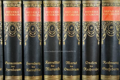Meyers Lexikon 7. Auflage, 15 Bände (incl. Ergänzungen), Jugendstil, 1924-1933