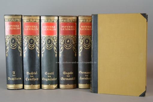 Meyers Lexikon 7. Auflage, 12 Bände (A-Z), Jugendstil, 1924-1930