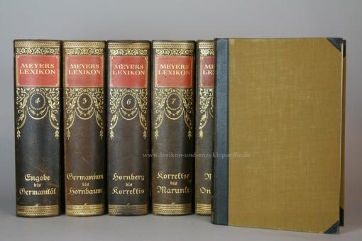 Meyers Lexikon 7. Auflage, 12 Bände (A-Z), Jugendstil, 1924-1930 (II)