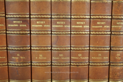 Meyers Neues Konversations-Lexikon 1. Auflage, 16 Bände (incl. Karten & Tafeln), 1857-1861