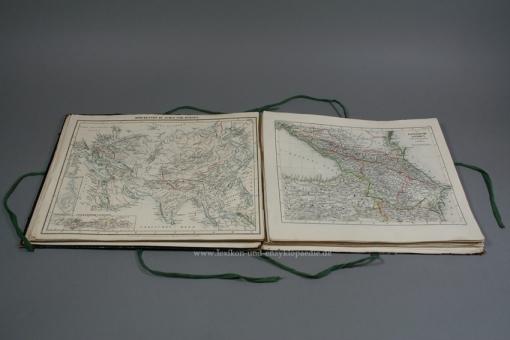 Atlas der Geographie (Karten) zu Meyers Neuem Konversations-Lexikon 1. Auflage, 1860, selten