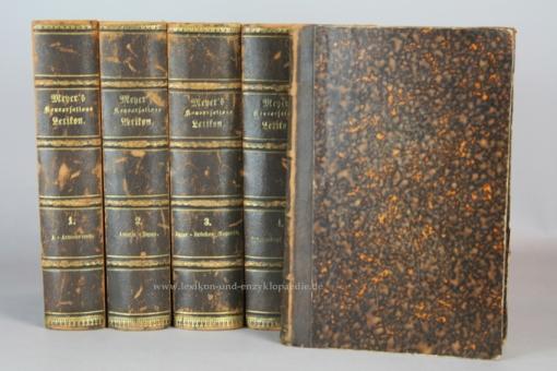 Meyers Konversations-Lexikon 2. Auflage, 17 Bände (incl. Illustrationen, Supplement), 1870-1873