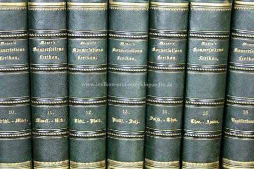 Meyers Konversations-Lexikon 2. Auflage, Einzel-Band (I)