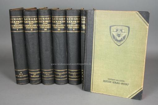 Luegers Lexikon der Gesamten Technik 2. Auflage, alle 10 Bände, 1904-1920