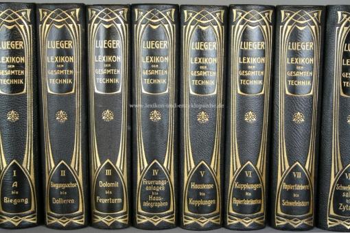Luegers Lexikon der Gesamten Technik 2. Auflage, 9 Bände, 1904-1914