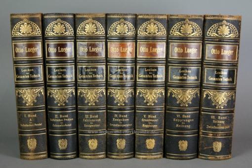 Luegers Lexikon der Gesamten Technik, Erstausgabe, 7 Bände (A-Z), 1894-1899 (II)