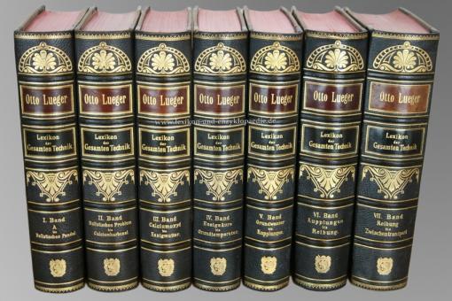 Luegers Lexikon der Gesamten Technik, Erstausgabe, Einzel-Band, 1894-1899