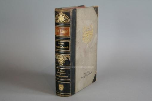 Luegers Lexikon der Gesamten Technik, Erstausgabe, Vierter Band IV / 4 (1894-1899, 1. Auflage) IV