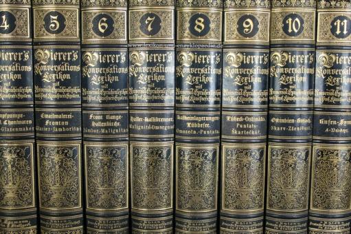 Pierers Konversations-Lexikon 7. Auflage, 12 Bände (A-Z), 1888-1893
