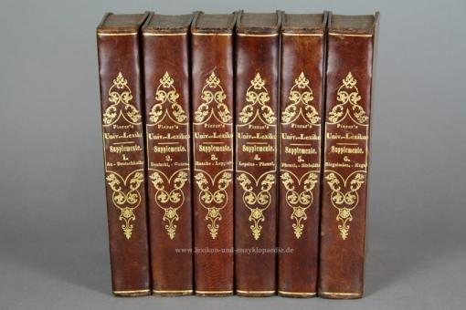 Supplemente zu Pierers Universal-Lexikon 1./2./3. Auflage, 1851-1854