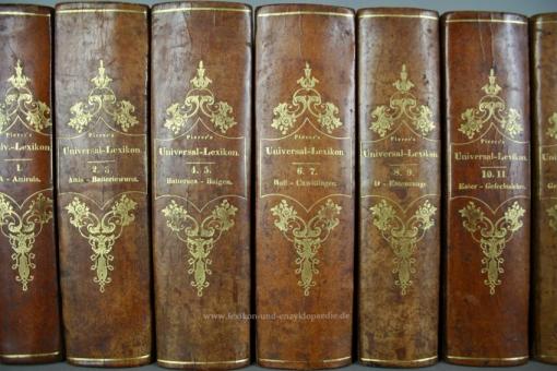 Pierers Universal-Lexikon, Encyclopädisches Wörterbuch 2. Auflage, 34 Bände, 1840-1846 (III)