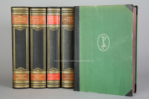 Propyläen Kunstgeschichte, 23 Bände (incl. Ergänzungsbände), Halbleder, 1923-1940
