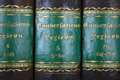 Reichenbach, Allgemeines Conversations-Lexicon, 10 Bände (A-Z), Erstausgabe, 1834-1837
