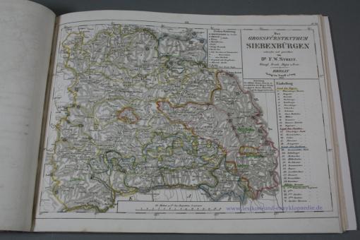 Streit, Atlas von Europa in zwei und achtzig Blättern, grenzkolorierte Karten, 1837
