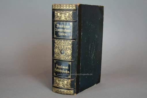 Supplement zu Brockhaus Konversations-Lexikon, Geschichte & Biographien, 1896, selten