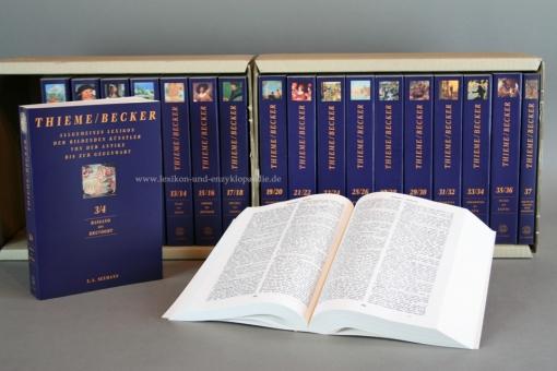 Thieme/Becker, Allgemeines Lexikon der bildenden Künstler von der Antike bis zur Gegenwart, 37 Bände, in OVP