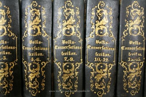 Volks-Conversationslexikon, Erstausgabe, 18 Bände (A-Z), 1844-1846