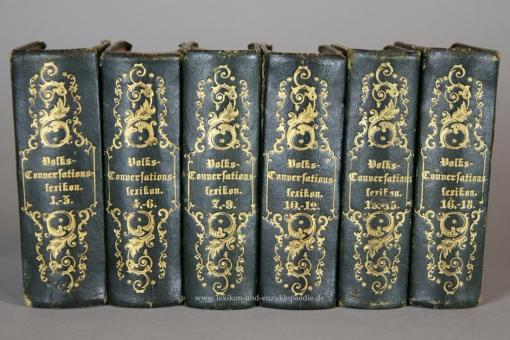 Volks-Conversationslexikon. Umfassendes Wörterbuch, Erstausgabe, 18 Bände (A-Z), 1844-1846