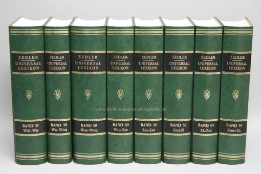 Zedler, Grosses vollständiges Universal-Lexicon aller Wissenschaften und Künste, 64 Bände (A-Z)