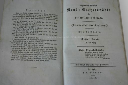 Brockhaus Conversations-Lexikon 5.Auflage 1819