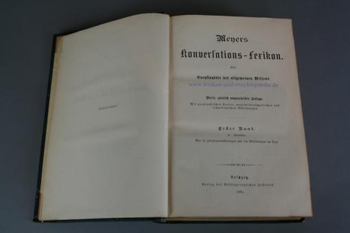 Meyers Konversations-Lexikon Vierte (4.) Auflage, 1885-1892, 16/17/18/19 Bände