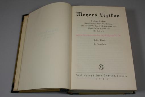 Meyers Lexikon Siebente (7.) Auflage, 1924-1930 / 1933 / 1935