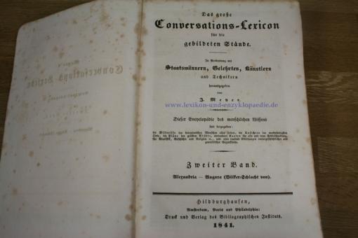 Wunder-Meyer / Auflage Null - Das grosse Conversations-Lexikon für die gebildeten Stäende, 1840-1855