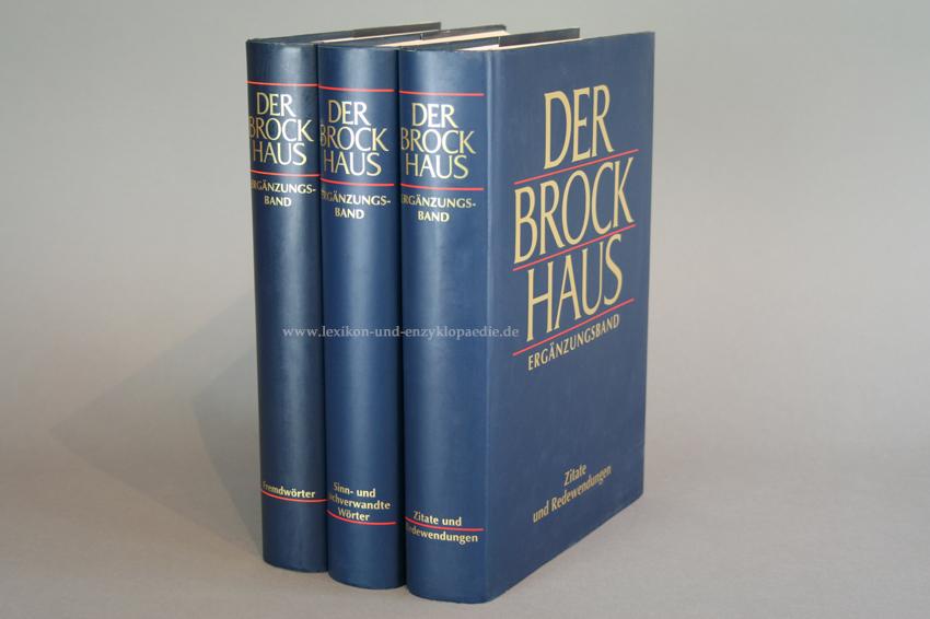Der Brockhaus In Fünfzehn 15 Bänden Ergänzungen Lexikon Und